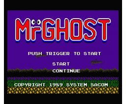 Mr. Ghost (1989, MSX2, System Sacom)