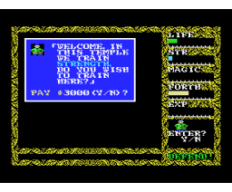 Hydlide 2 - Shine of Darkness (1986, MSX, T&ESOFT)